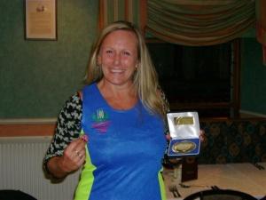 3 Michaela Sanders after completing her 100th marathon